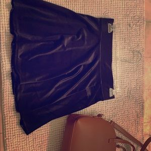 Sm black velour mini skirt